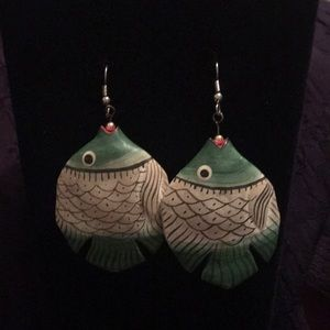 Wooden Fish Earrings